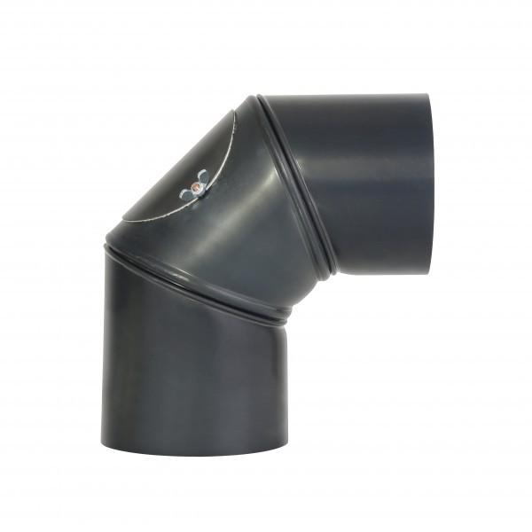 Uni-Knie Blauglanz mit Tür 120mm