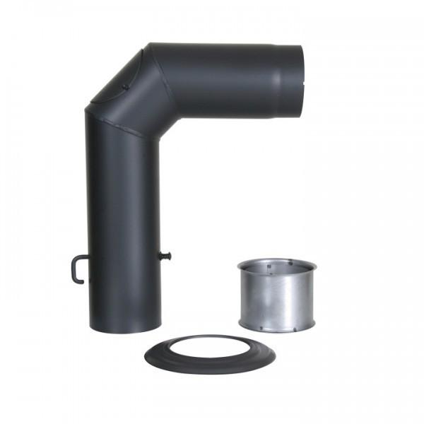Winkelrohr-Set Senotherm 150mm (schwarz)
