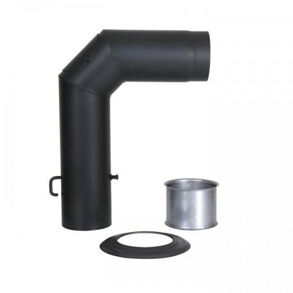 Winkelrohr-Set Senotherm 120mm (schwarz)