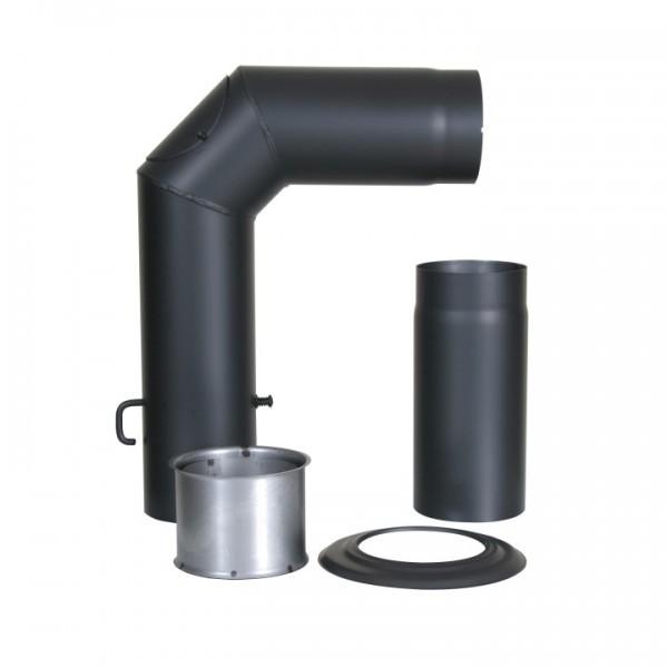Winkelrohr-Set Senotherm mit Verlängerung 150mm (schwarz)