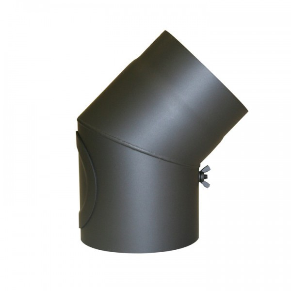 Senotherm Uni-Knie mit Tür 45° 2mm 150mm (gussgrau)