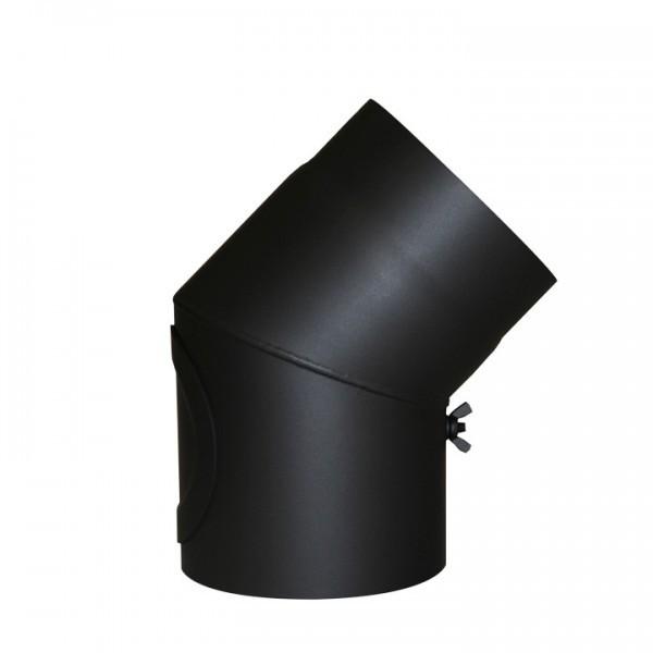 Senotherm Uni-Knie mit Tür 45° 2mm 120mm (schwarz)