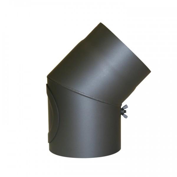Senotherm Uni-Knie mit Tür 45° 2mm 120mm (gussgrau)