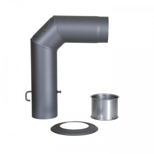 Winkelrohr-Set Senotherm 120mm (gussgrau)