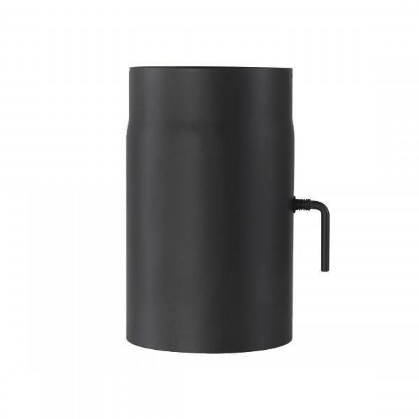 Ofenrohr mit Drosselklappe 2mm 130 x 250mm (schwarz)