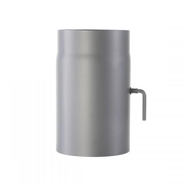 Ofenrohr mit Drosselklappe 2mm 150 x 250mm (gussgrau)