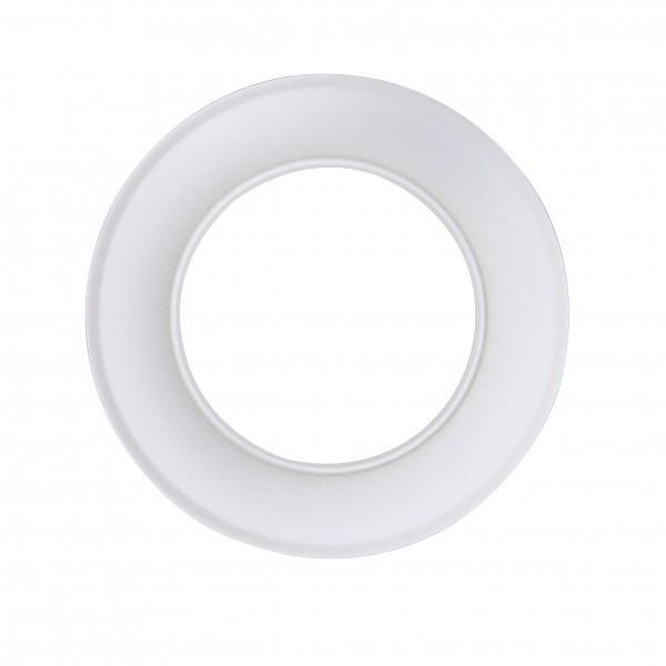 Ofenrohr Wandrosette weiß 120mm