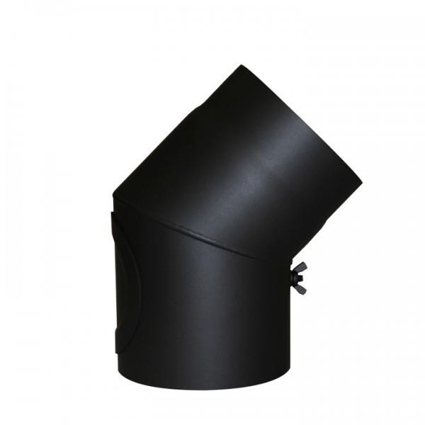Senotherm Uni-Knie mit Tür 45° 2mm 130mm (schwarz)