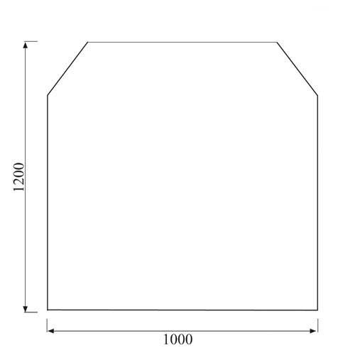 Kaminofen Glas Bodenplatte 6-eckig