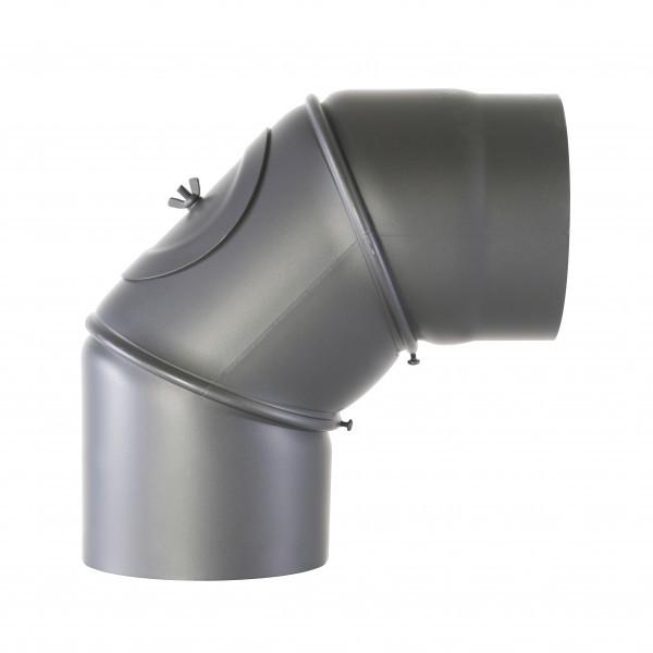 Senotherm Uni-Knie mit Tür 90° 2mm 120mm (gussgrau)
