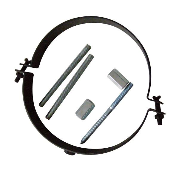 Rohrhalter/Rohrschelle schwarz verstellbar 120mm