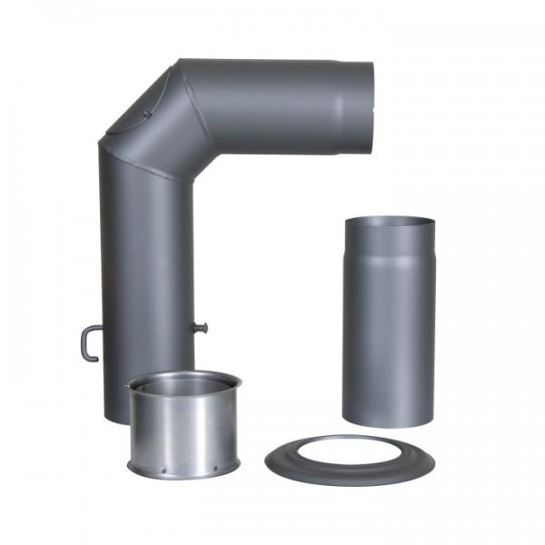 Winkelrohr-Set Senotherm mit Verlängerung 150mm (gussgrau)