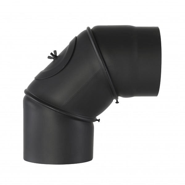 Senotherm Uni-Knie mit Tür 90° 2mm 120mm (schwarz)