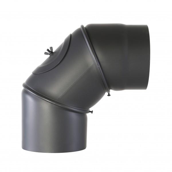 Senotherm Uni-Knie mit Tür 90° 2mm 130mm (schwarz)