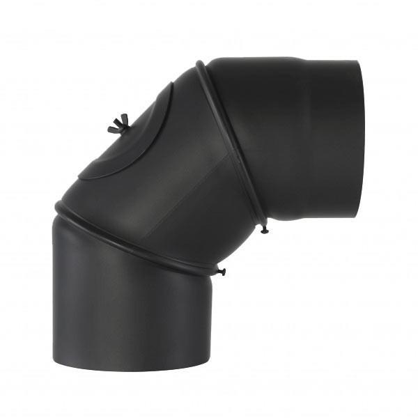 Senotherm Uni-Knie mit Tür 90° 2mm 150mm (schwarz)